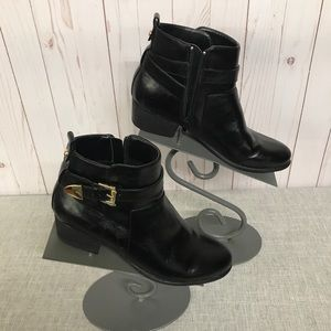 Unisa Black and Gold Booties